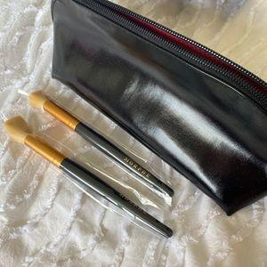 Black morphe makeup bag and brushes set